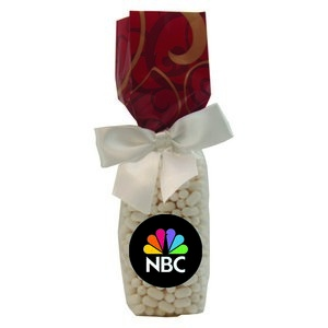 Mug Stuffer Gift Bag with Colored Bullet Candy - Red Swirl