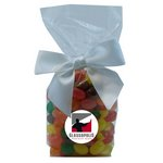 Mug Stuffer Gift Bag with Corporate Jelly Beans - Red Swirl