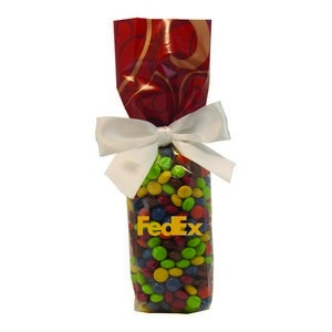 Mug Stuffer Gift Bag with Chocolate Littles - Red Swirl