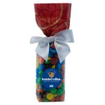 Mug Stuffer Gift Bag with M&M's - Red Swirl