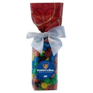 Mug Stuffer Gift Bag with M&M's - Red Swirl