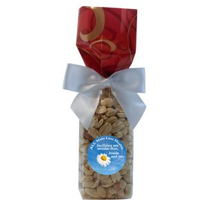 Mug Stuffer Gift Bag with Peanuts - Red Swirl 