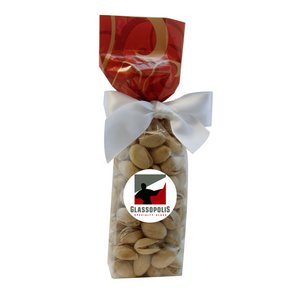 Mug Stuffer Gift Bag with Pistachios - Red Swirl