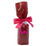 Mug Stuffer Gift Bag with Cinnamon Red Hots - Red Swirl