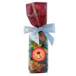Mug Stuffer Gift Bag with Skittles - Red Swirl