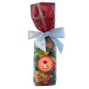 Mug Stuffer Gift Bag with Skittles - Red Swirl