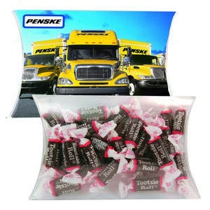 Personalized Candy Pillow Pack LG with Tootsie Rolls
