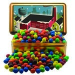 Large Rectangle Tin with Plain & Peanut M&M's