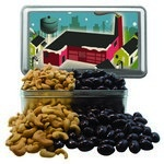 Large Rectangle Tin with Chocolate Covered Almonds & Cashews