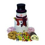 Snowman Gift Tower - Holiday Gift Basket