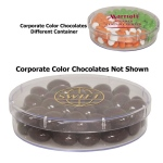 Large Round Show Piece with Corporate Color Chocolates