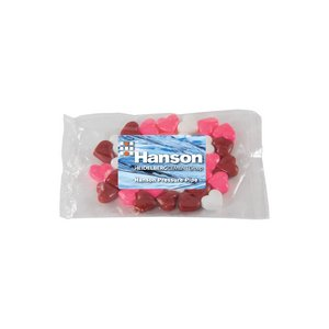 Small Promo Candy Pack with Custom Candy Hearts