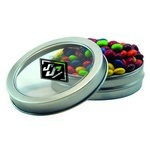 Short Round Tin with Custom Candy Chocolate Littles