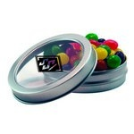 Short Round Tin with Custom Candy Jelly Beans