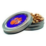 Short Round Tin with Custom Candy Peanuts