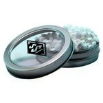 Short Round Tin with Custom Candy Sugar-Free Mints