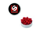 Small Snap-Top Mint Tin with Custom Candy Cinnamon Red Hots
