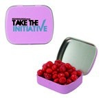Small Mint Tin with Custom Candy Cinnamon Red Hots