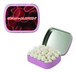 Small Mint Tin with Custom Candy Signature Peppermints