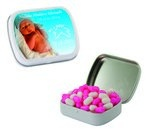 Small Mint Tin with Custom Candy Colored Bullet Candy