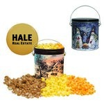 One Gallon Custom Popcorn Tin your logo