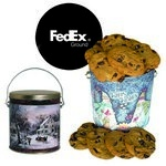 One Gallon Cookie Tin with your logo