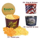 Designer Two Gallon Popcorn Tin - Two Flavors, Thank You