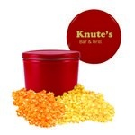 Red Two Gallon Custom Popcorn Tin - Two Flavors