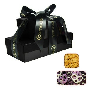 The Cosmo Gift Chocolate Pretzels & Cashews- Black 