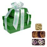 The Four Seasons Gift Tower of Cookies, Pretzels & Nuts - Green