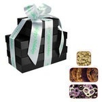 The Four Seasons Gift Tower of Cookies, Pretzels & Nuts- Black