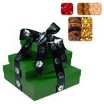 The Fifth Avenue Gift Tower of Cookies, Popcorn & Candy - Green