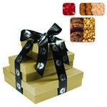 The Fifth Avenue Gift Tower of Cookies, Popcorn & Candy - Gold