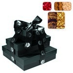 The Fifth Avenue Gift Tower of Cookies, Popcorn & Candy - Black