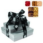 The Fifth Avenue Gift Tower of Cookies, Popcorn & Candy- Silver