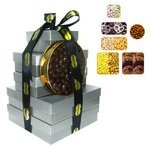 The Imperial Gift Tower - Cookies, Nuts, Pretzels, Candy - Silver