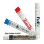 Test tube with signature peppermints with blue cap