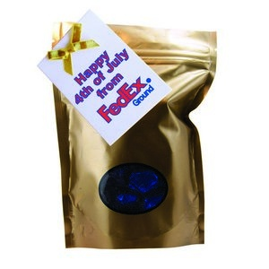Window Bag with Custom Candy Hard Candy - Gold