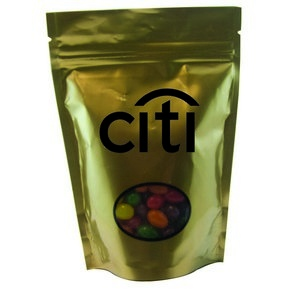 Window Bag with Custom Candy Jelly Beans - Gold