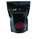 Window Bag with Custom Candy Cinnamon Red Hots - Black
