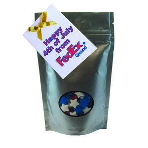 Window Bag with Custom Candy Stars - Silver