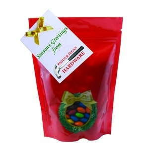 Large Window Bag with Custom Candy M&Ms and Custom Gift Card