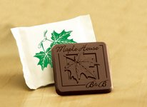 Chocolate Candy Bar in Cello Wrapper 3 Color Imprint 2x2 in