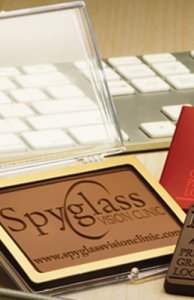 Chocolate Business Card in Acrylic Case