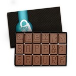 Custom Chocolate 18-Piece Words with Chocolate