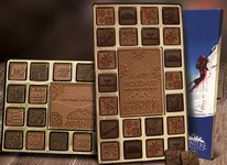 Chocolate Assortment with Custom Border 45pc