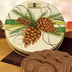 Logo chocolate Cookies in Pinecone Cookie Tin 20 Cookies