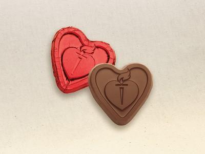 Custom Chocolate Foil Hearts