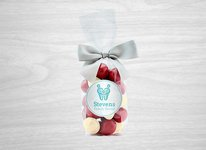 Chocolate Covered Cranberries red/white in Gift Bag