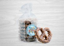 Chocolate Covered Pretzels with Toffee Bits in Gift Bag